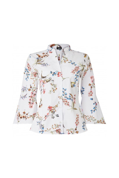 Emme Bombay printed shirt with flared cuffs