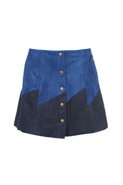 Glamorous Button Front Panel Skirt