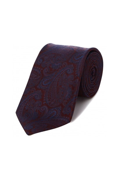 Howick Tailored Beaumont Large paisley jacquard silk tie
