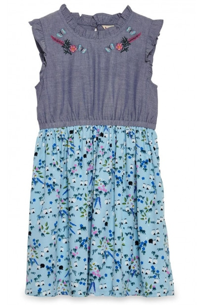 Yumi Girls Meadow Chombray Day Dress