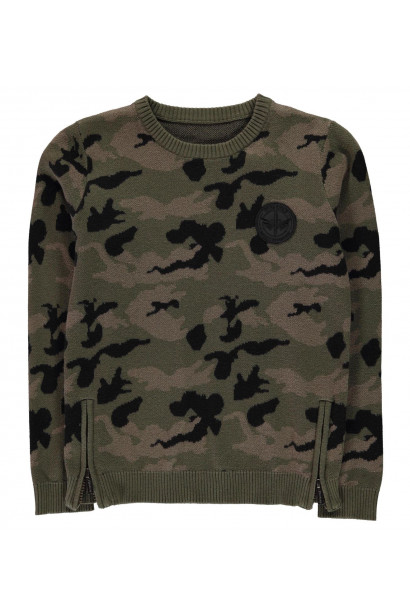 Firetrap Camo Jumper Junior Boys