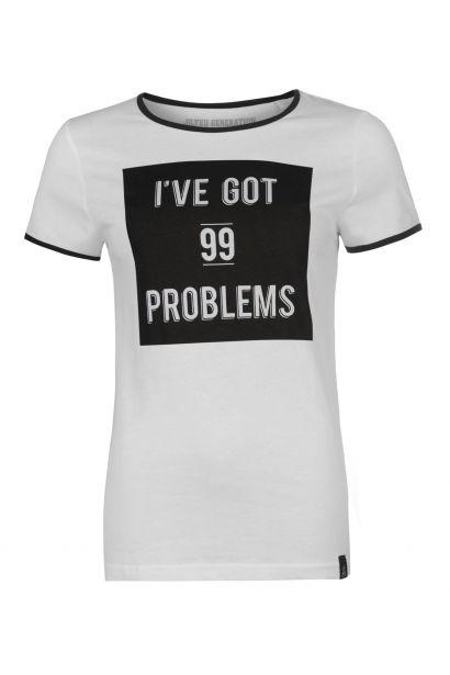 Jilted Generation Slogan T Shirt Ladies