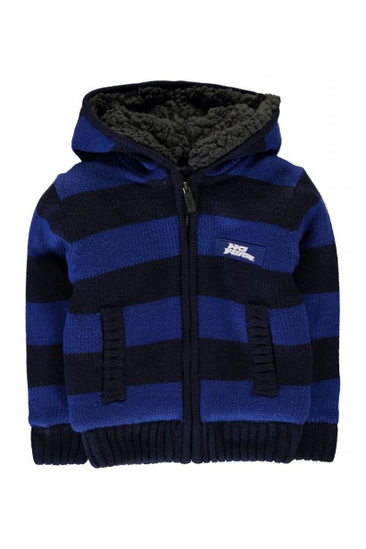 No Fear Boys Striped Zip Up Hoody detské
