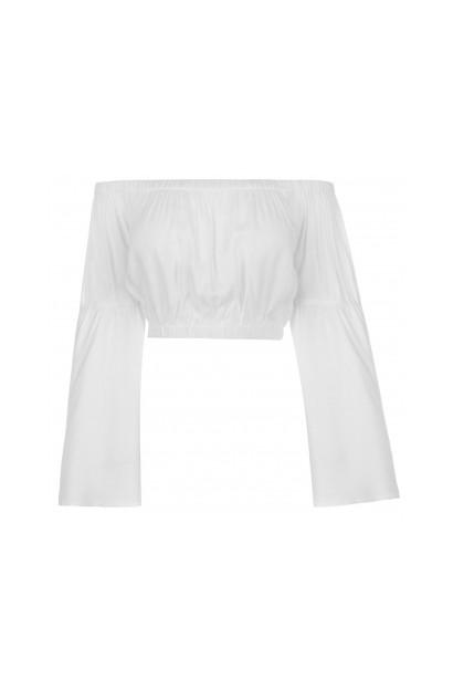 Glamorous Bell Sleeve Crop Top
