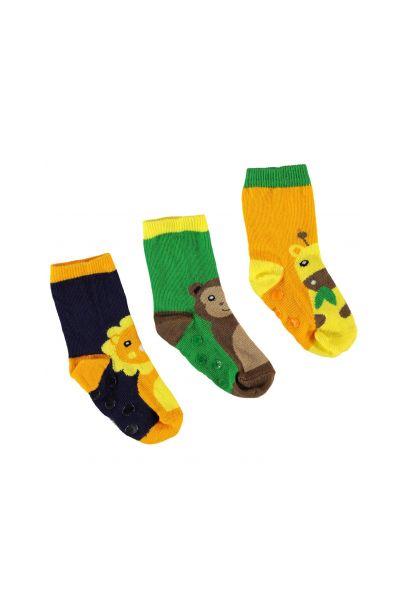 Crafted Essentials 3 Pack Animal Socks Infant Boys