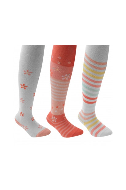 Miss Fiori 3 Pack Floral Infant Girls Tights