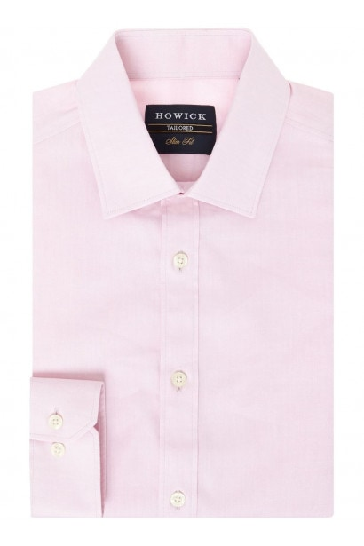Howick Tailored Charter Slim Fit Twill Shirt