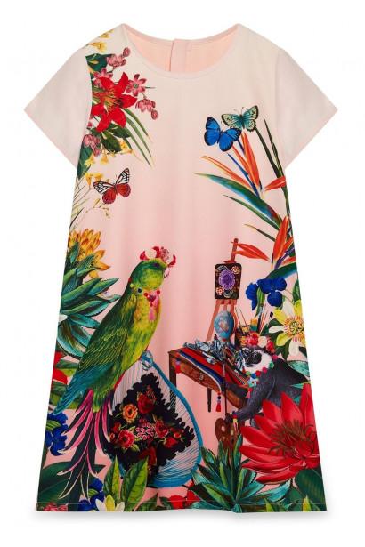 Yumi Girls Mexicana Flower Party Dress
