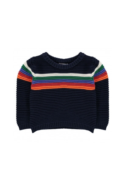 Crafted Stripe Jumper Boys