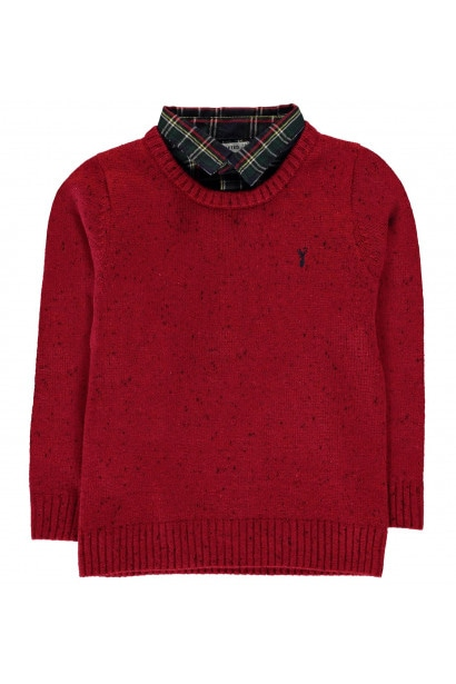Crafted Mock Shirt Jumper Infant Boys
