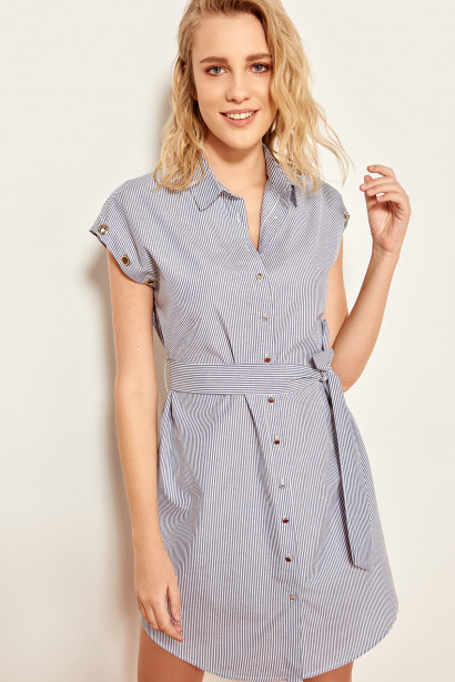 Trendyol Indigo Eyelet Detailed Dress