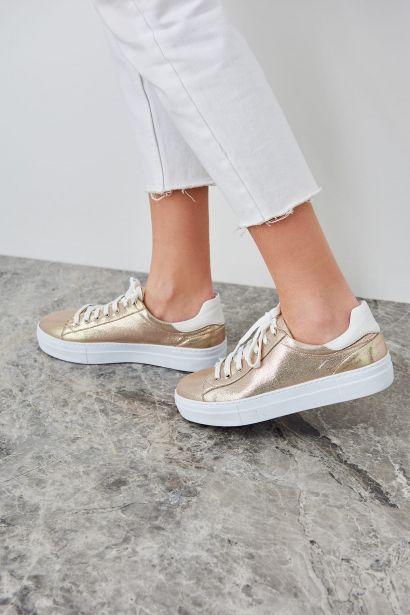 Trendyol Rose Metallic Women's Sneaker