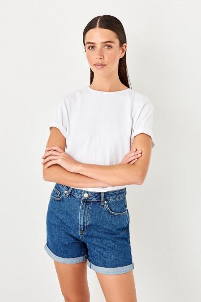 Trendyol Indigo Basic Shorts