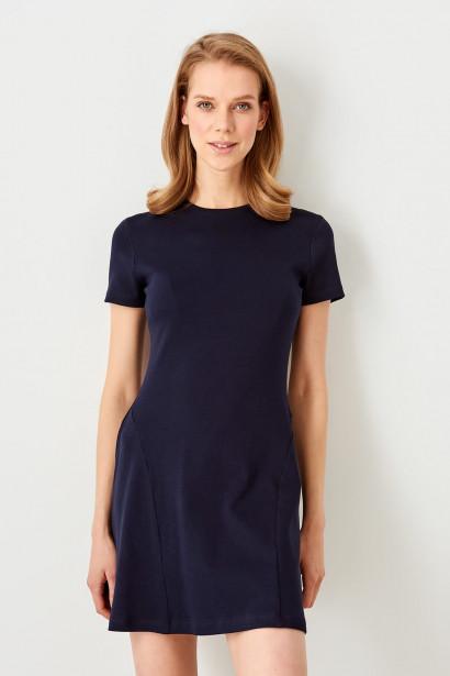 15fc7456c8 Trendyol La civert Flanged Knitted Dress