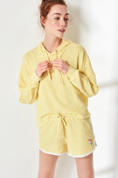 Trendyol Yellow Basic Knitted Shorts