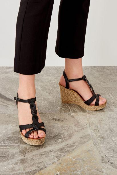 0bc73e684e Trendyol Black Women Filling Wedge-Heeled Shoes