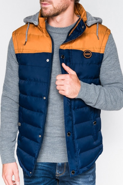 4329241184 Ombre Clothing Men's quilted vest V26