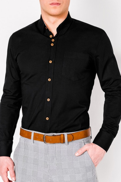 eb027e2cdc Ombre Clothing Men's elegant shirt with long sleeves K302