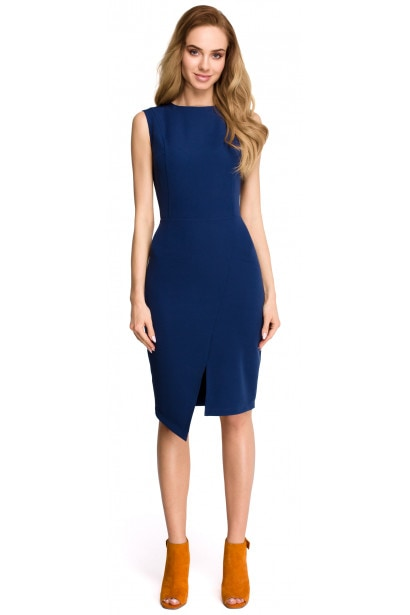 Stylove Woman's Dress S105 Navy Blue