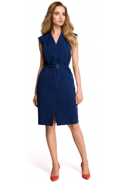 Stylove Woman's Dress S102 Navy Blue