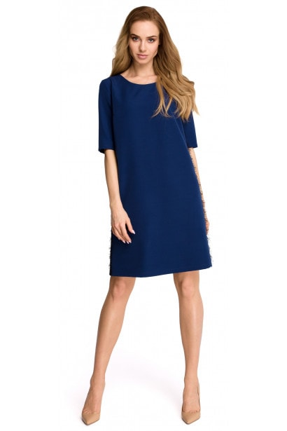 Stylove Woman's Dress S107 Navy Blue