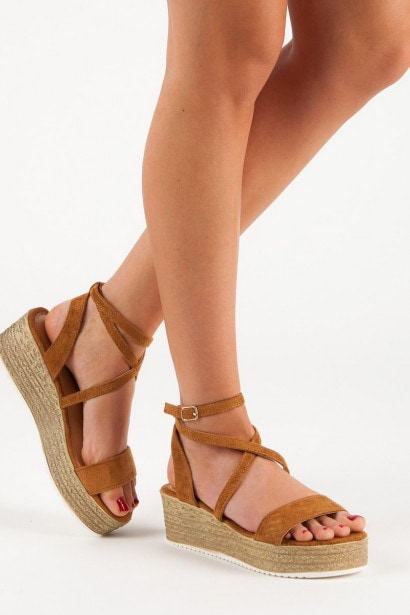 CH. CREATION CAMELOWE WEDGE-HEEL SANDALS