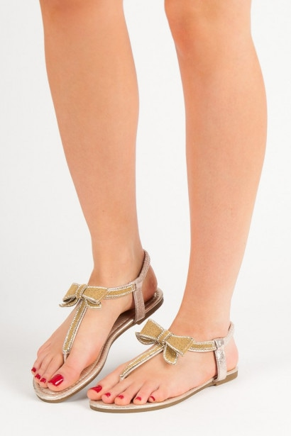 COMER SANDALS FLIP FLOPS WITH BOW