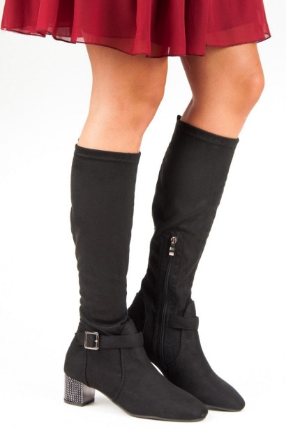 ACLYS HIGH HEEL SUEDE BOOTS
