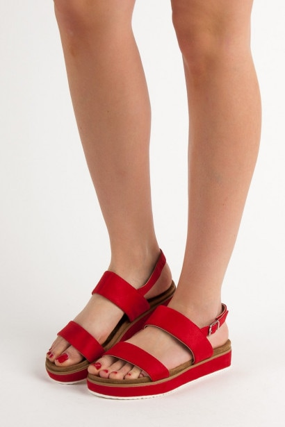 GOODIN RED SANDALS
