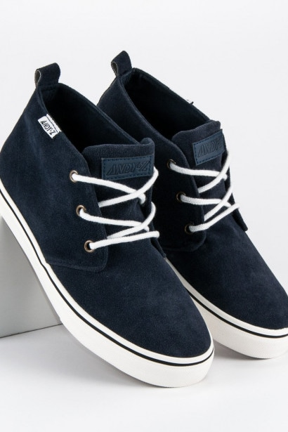 ANDY Z SUEDE SNEAKERS ON THE ANKLE