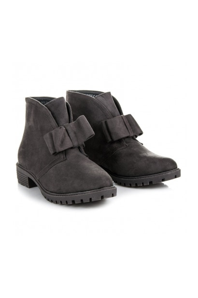BESTELLE SLIP-ON BOOTIES WITH BOW