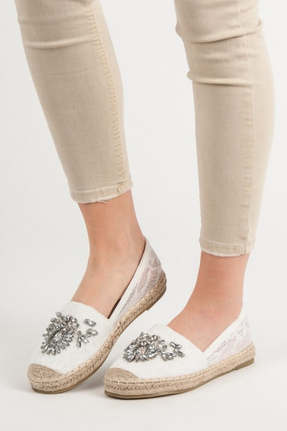 BESTELLE LACY ESPADRILLES WITH DECORATIONS