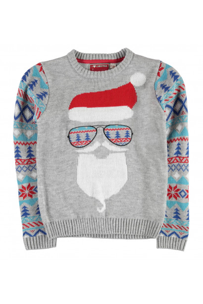 Star Xmas Knitted Jumper Junior Boys