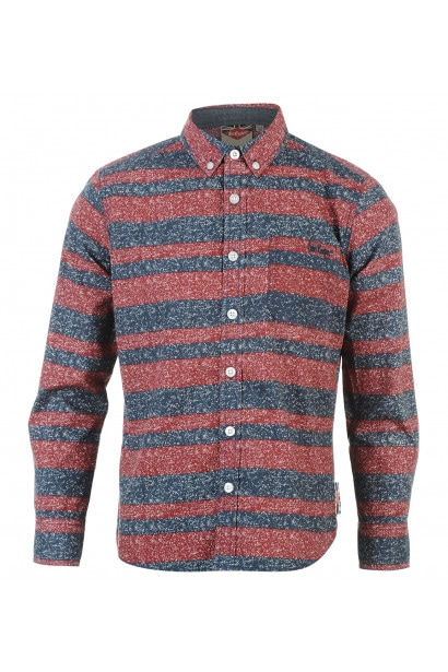 c70915ad94 Lee Cooper Long Sleeve All Over Pattern Textile Shirt Boys