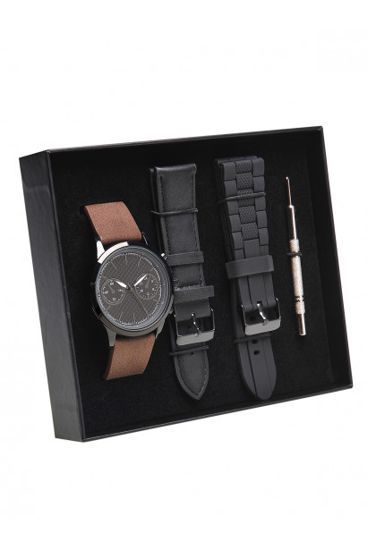 5484822a011 Top Secret MEN'S WATCH WITH EXCHANGEABLE STRAPS AND TOOL FOR TELESCOPIC  STRAPS CHANGING SET