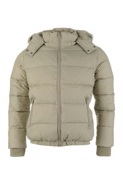 365961f66d37e Lee Cooper Faux Fur Trim Hooded Down Jacket Mens
