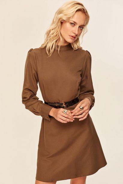 becebd16b7de Trendyol Khaki Waist Detailed Dress