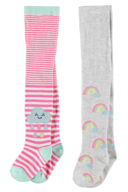 Crafted Essentials 2 Pack Dress Tights Infant Girls