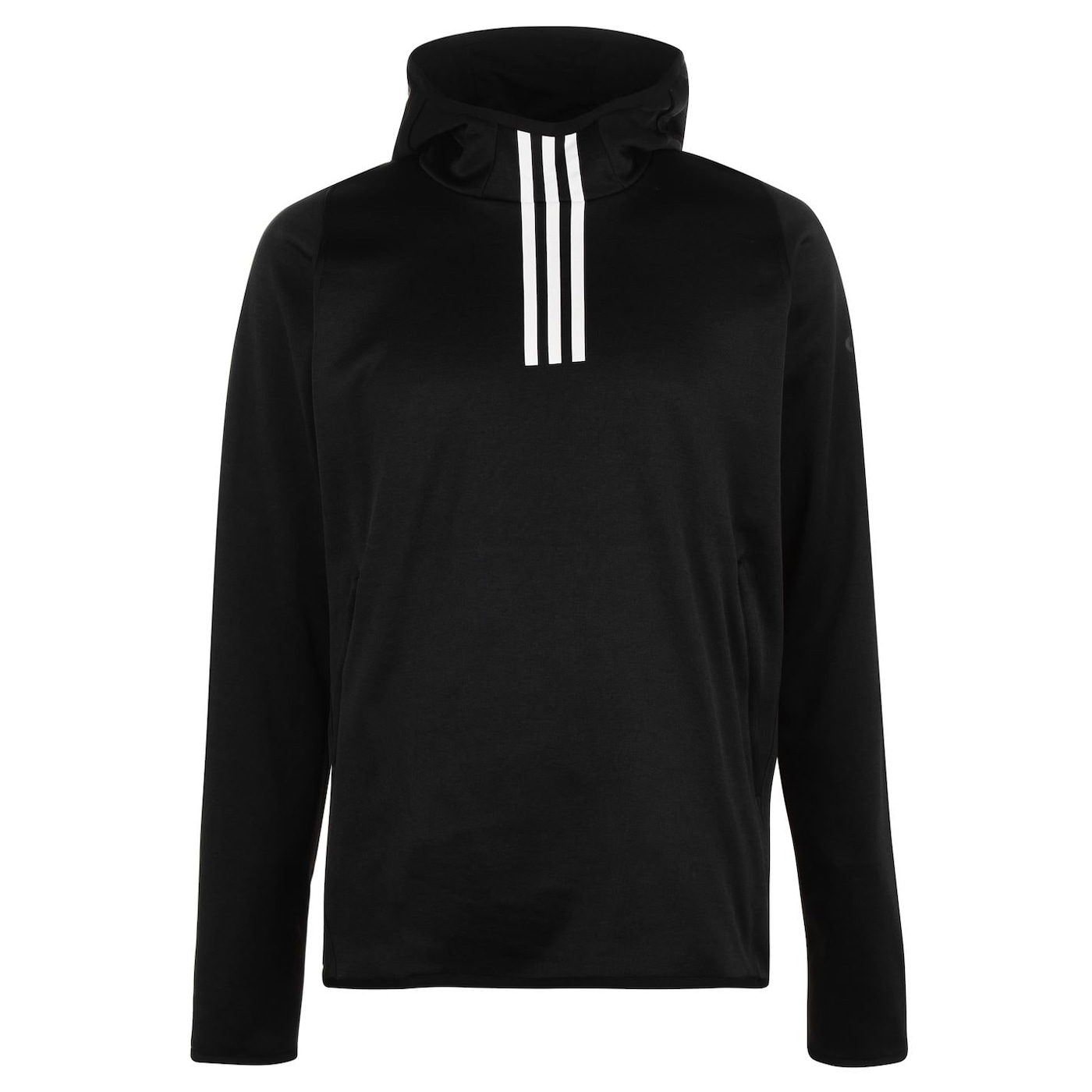 Adidas Warm 3 Stripe Hoodie Mens