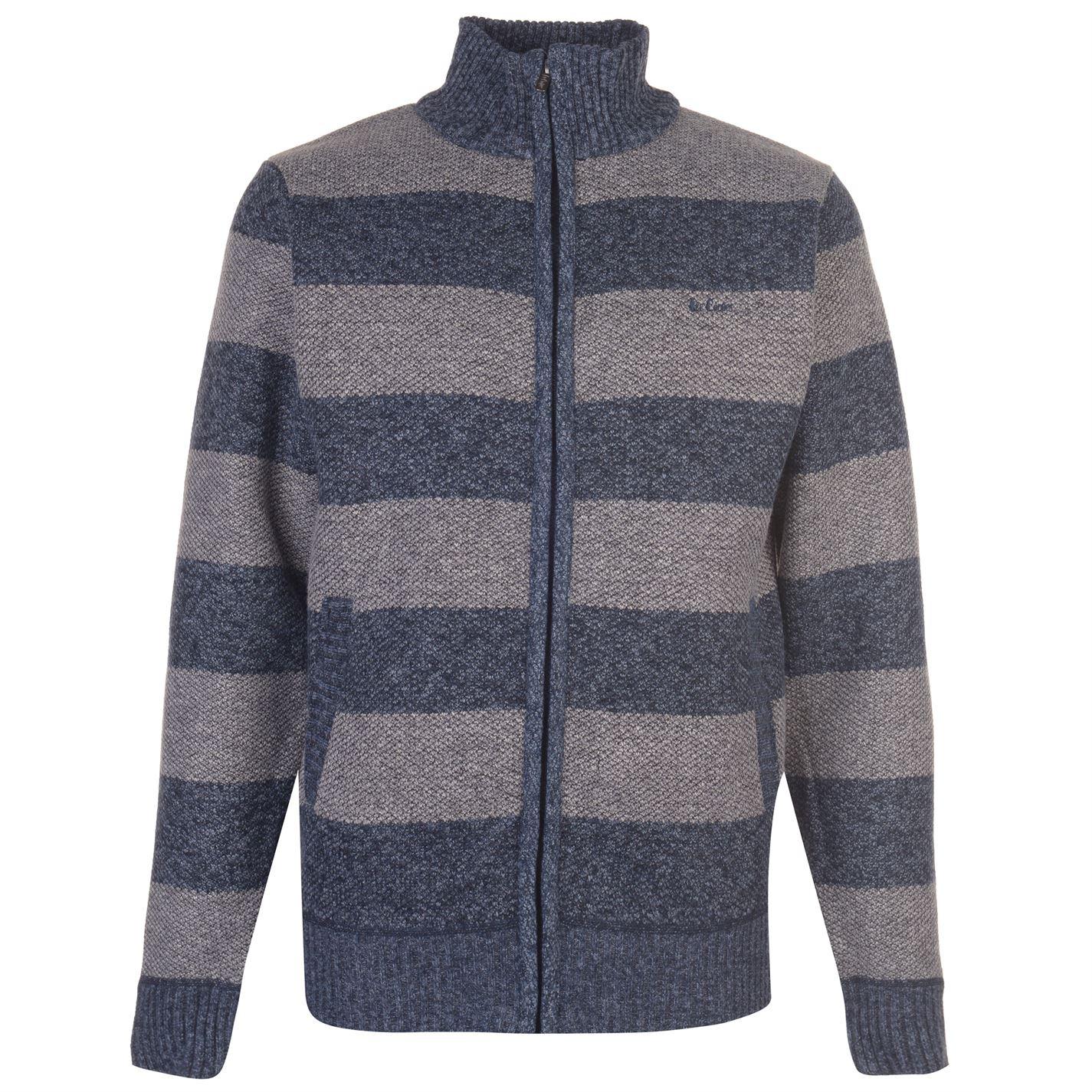 Lee Cooper Stripe Zip Jacket Mens