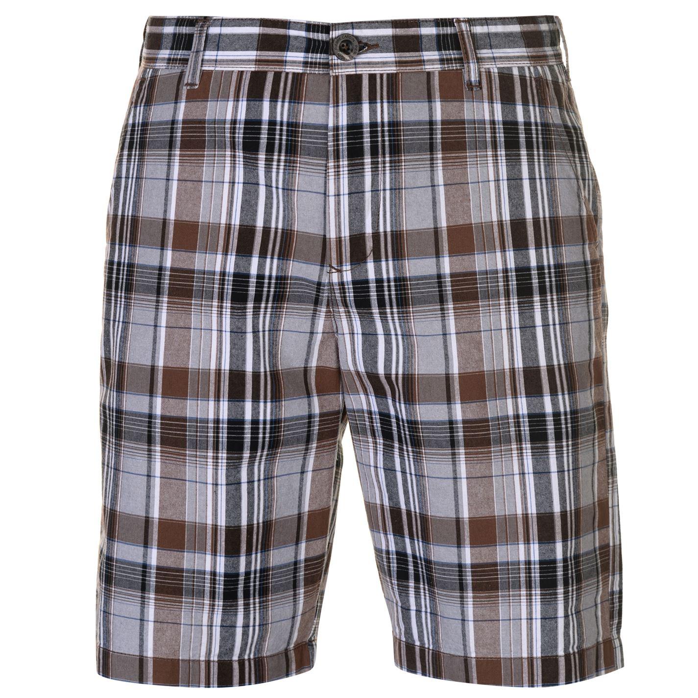 Pierre Cardin Check Shorts Mens