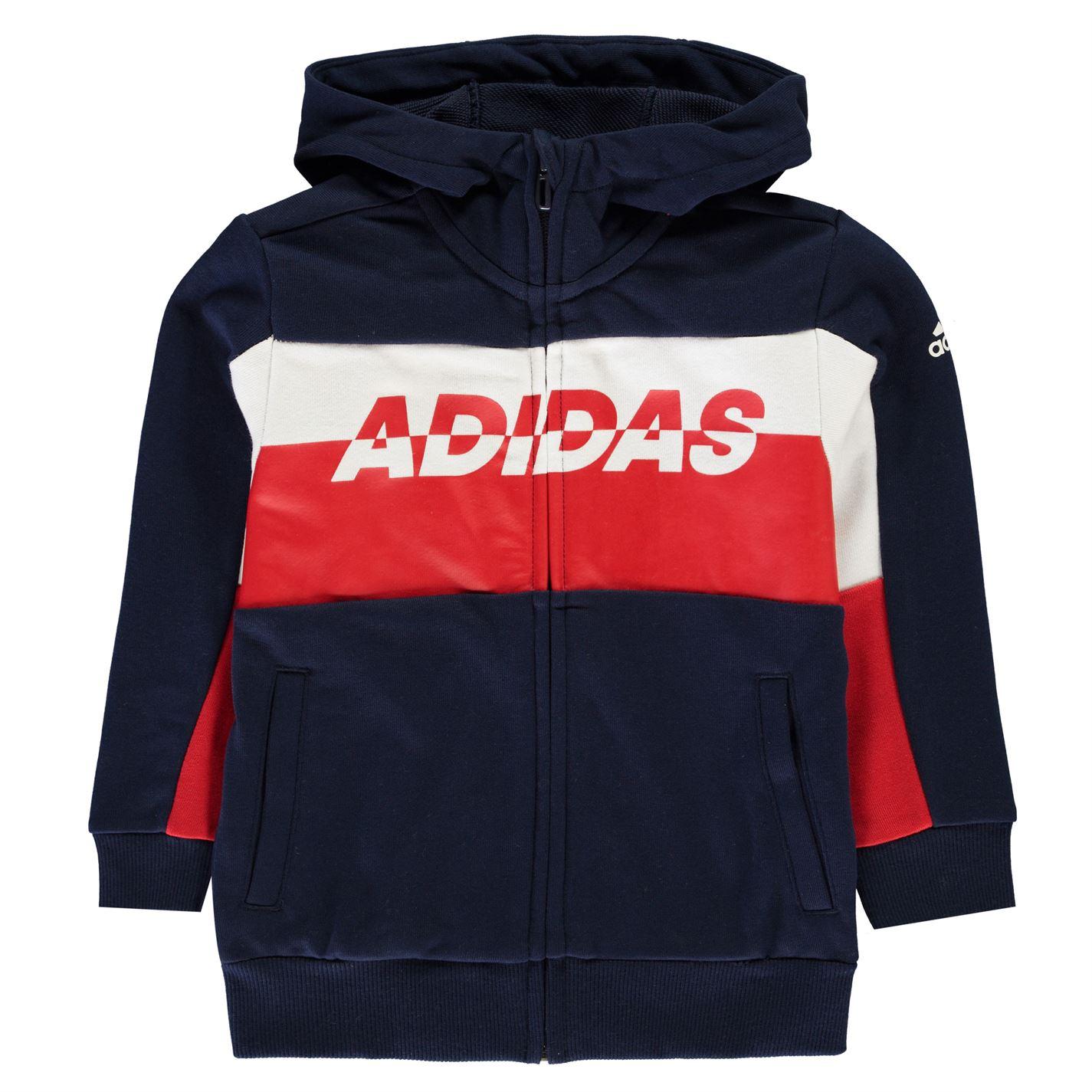 Adidas Block Colour Hoodie Junior Boys