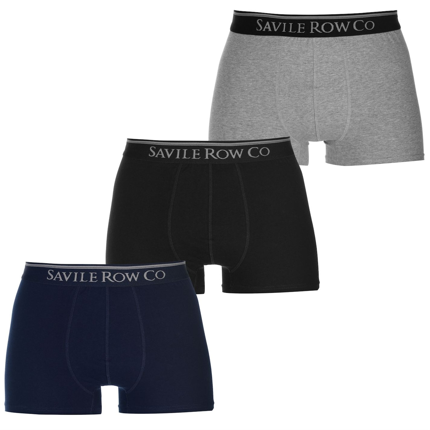 Saville Row 3 Pack Trunks Mens