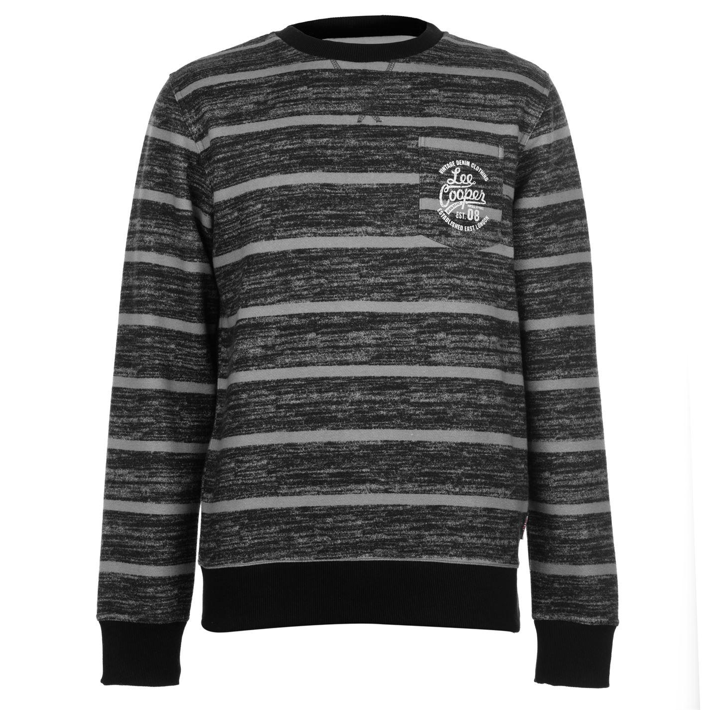 Lee Cooper Textured AOP Crew Sweater Mens