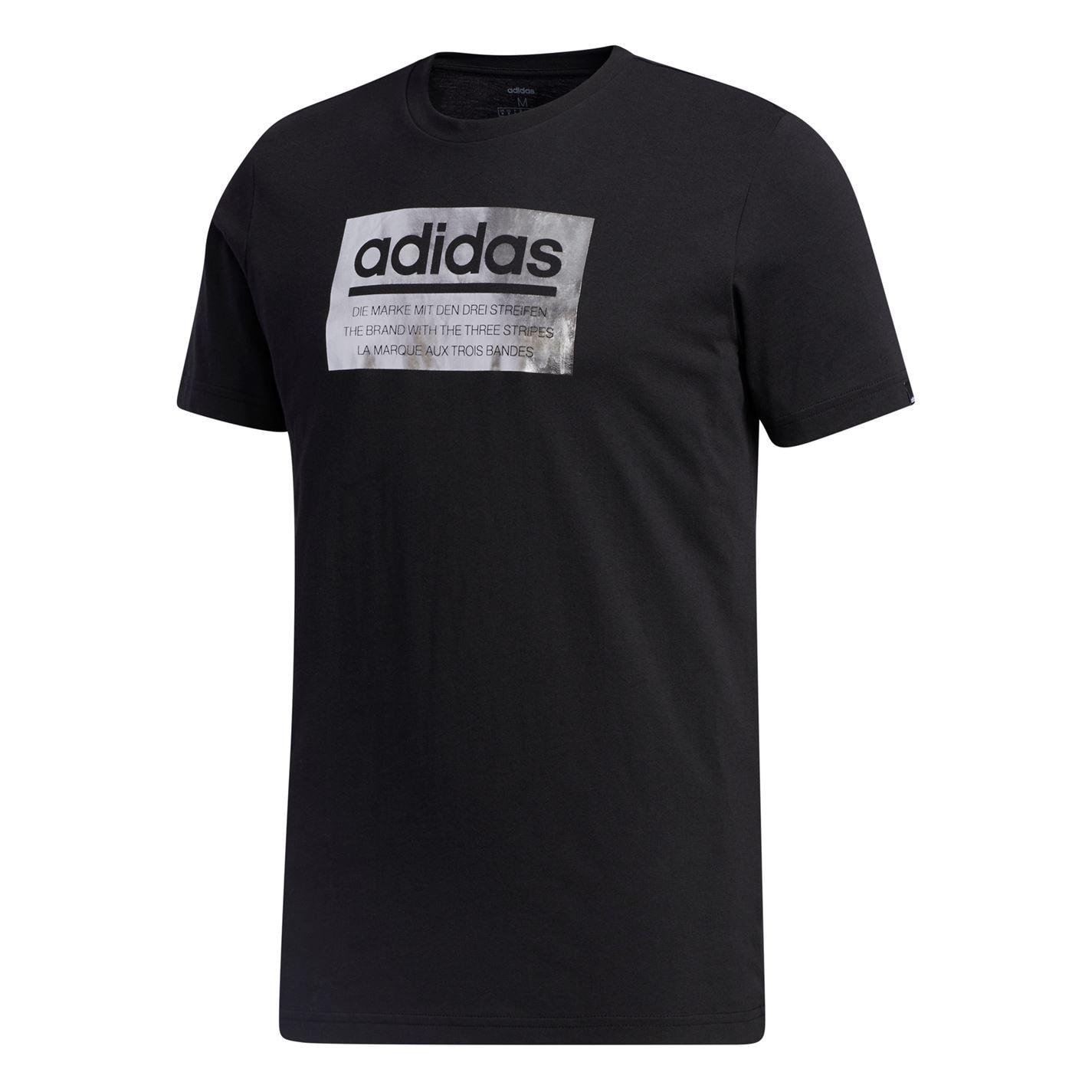 Adidas Mens Graphic Foil Box T-Shirt