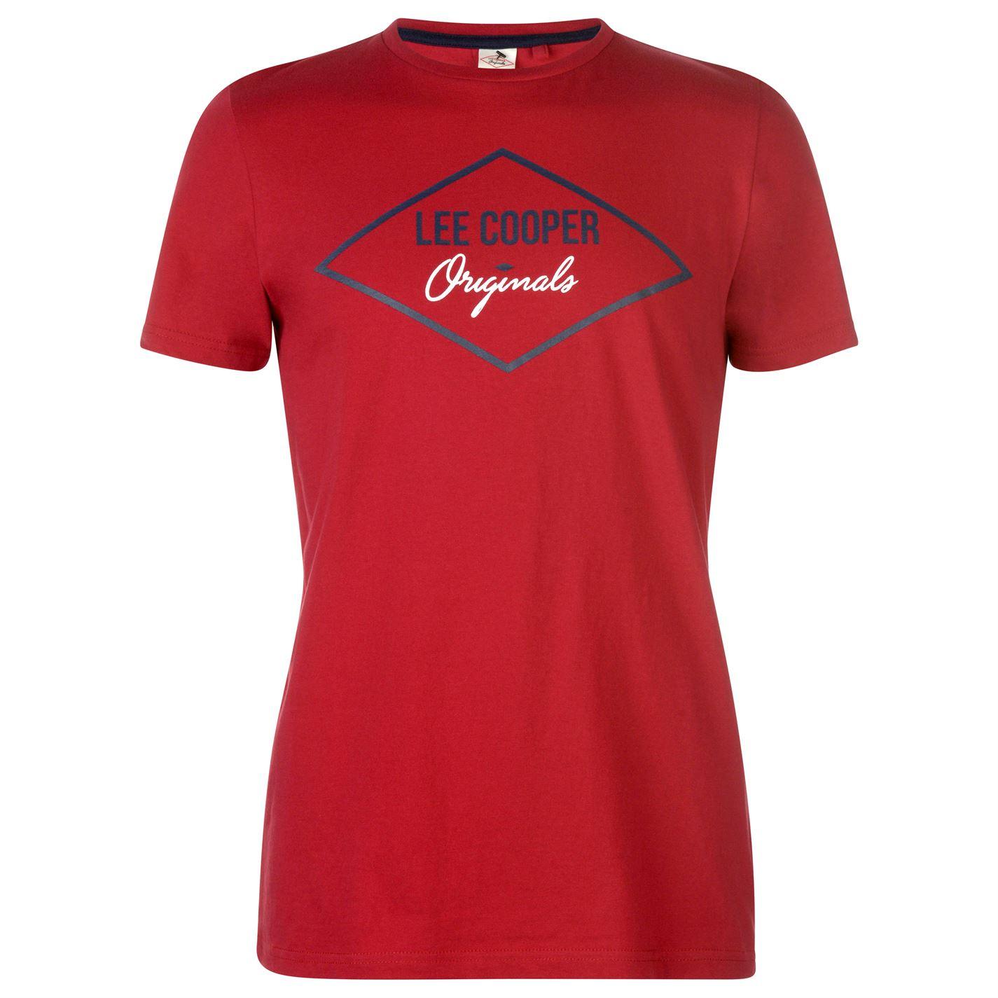 Lee Cooper Originals T Shirt Mens