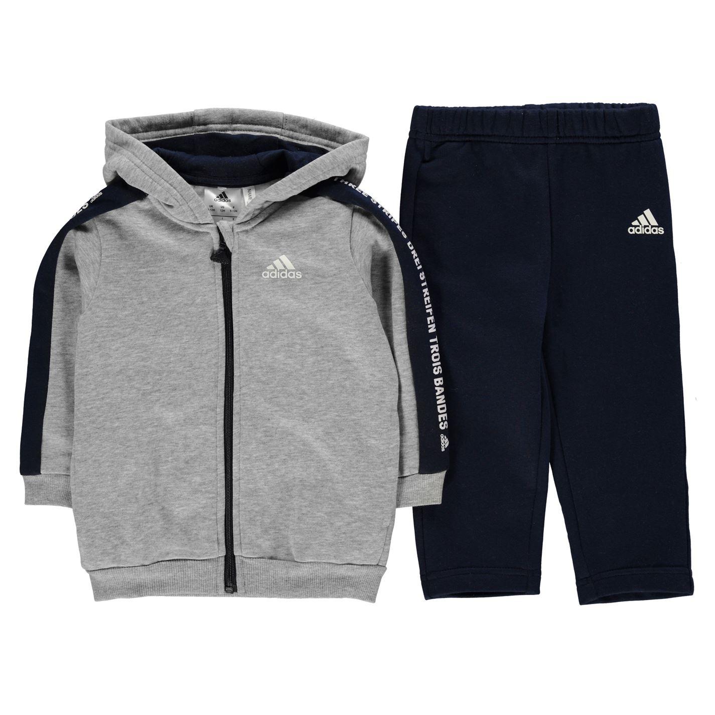 Adidas Logo Full Zip Jogger Baby Boys