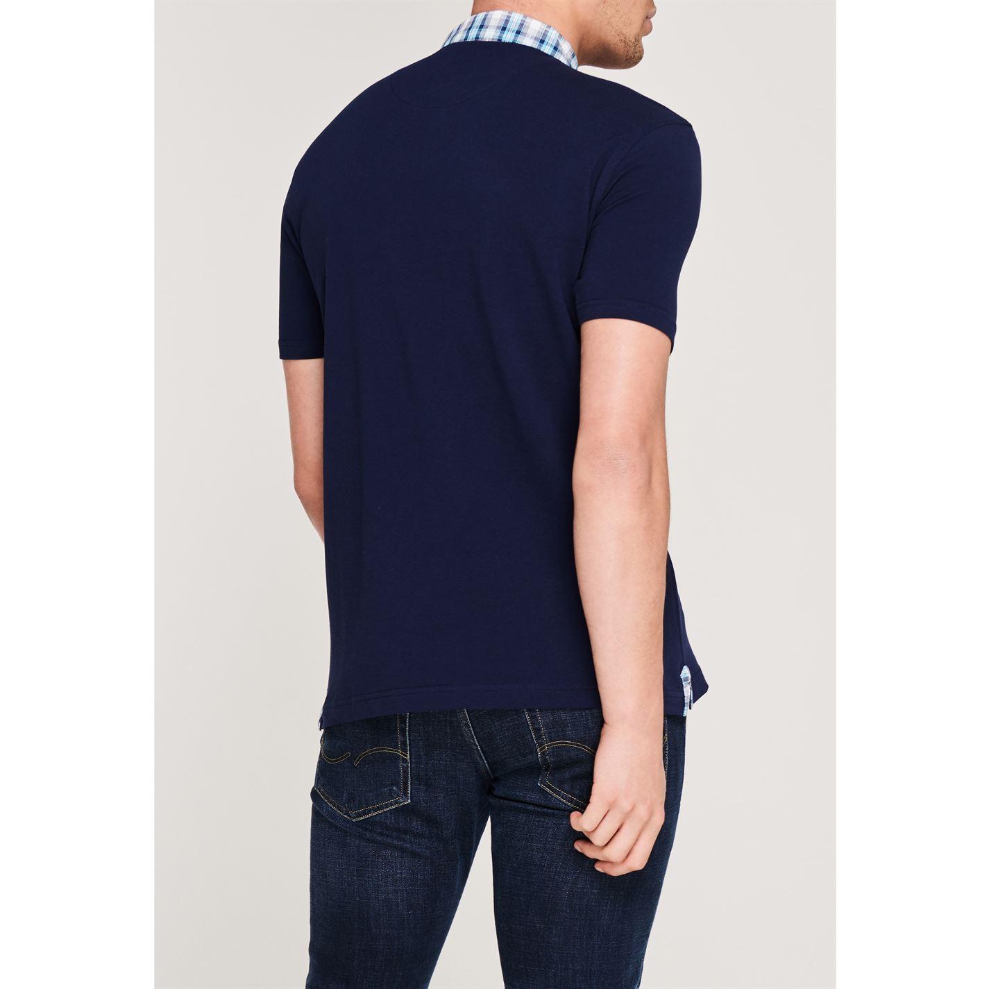 Vīriešu polo krekls Pierre Cardin Short Sleeve Check Collar
