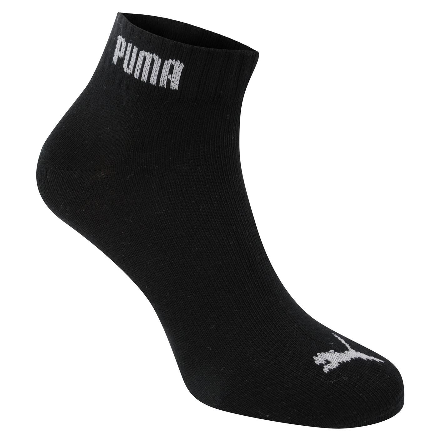 Puma 3 Pack Quarter Socks Mens