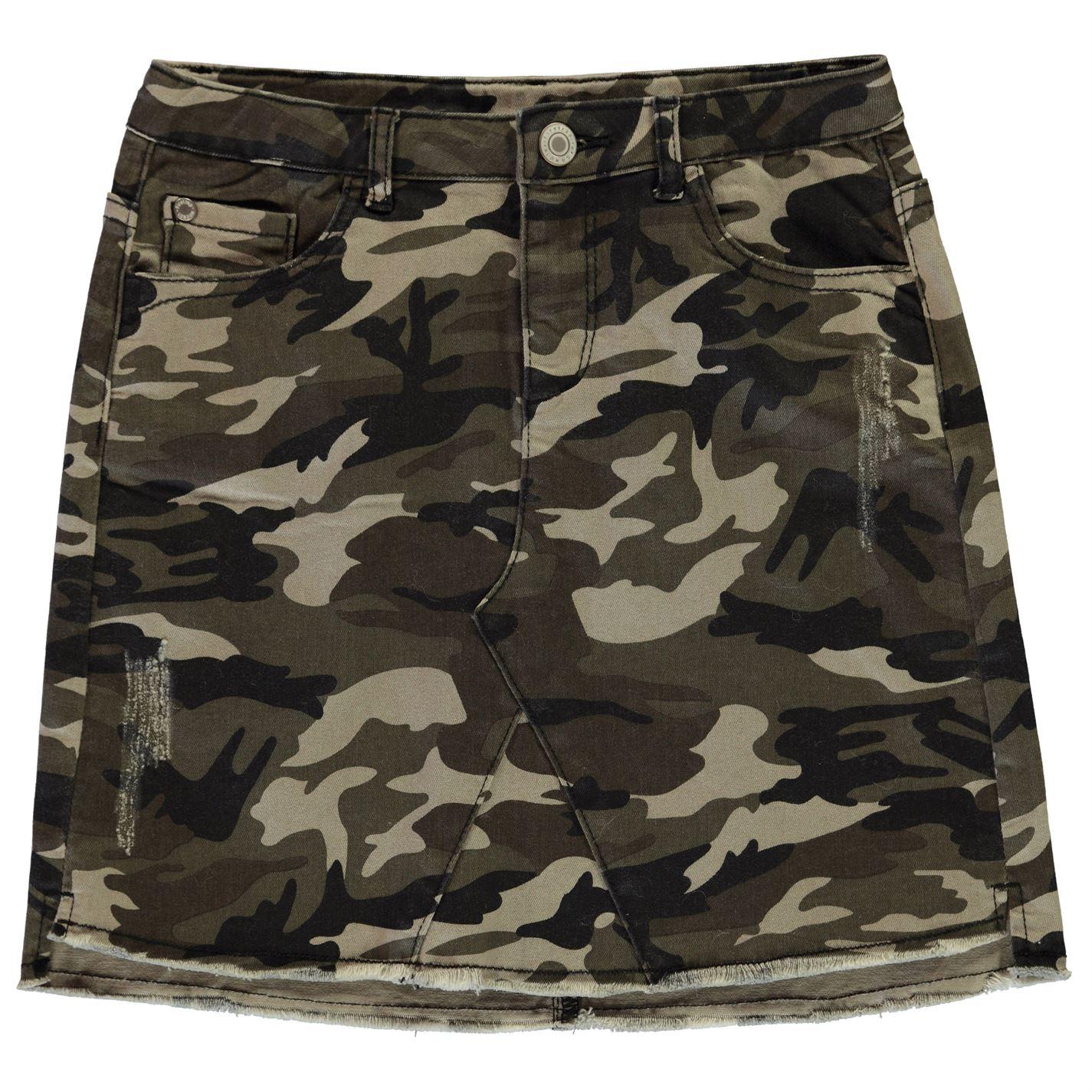 Firetrap Camo Stretch Mini Skirt Junior Girls